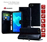 Huawei Ascend Y635 Case Premium Leather Wallet Case with