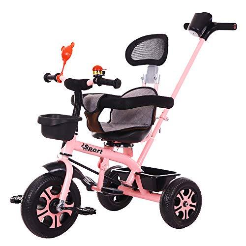 Triciclo Baby,Triciclos Bebes 1 AñO +18 Meses Triciclo con Pedales Plegable Barra Telescópica para Padres Triciclo de Empuje