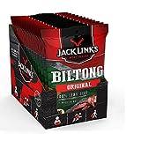 Jack Links Biltong Original – 12er Pack (12 x 70 g) – Proteinreiches Trockenfleisch mit köstlicher Marinade – Luftgetrocknetes Rinderdörrfleisch