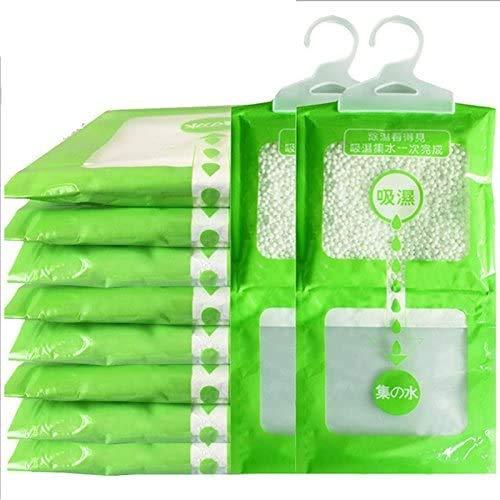 FJROnline Paquete de 10 bolsas deshumidificadoras desecantes para colgar, a prueba de humedad, para armarios, armarios, cocina, cuarto de baño