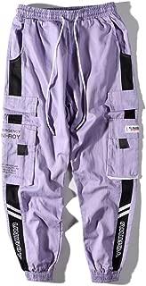 Aelfric Eden Men's Jogger Casual Pants,Long Casual Hip hop Jogger Harem Cotton Pant Patchwork Street Wear