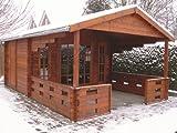 45 mm Gartenhaus Sanstrov ca. 380x590 cm (unbehandelt)