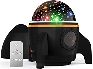 Gift for Kids 2019 Newest Baby Star Night Light Projector,360 Degree Rotating Remote Control and Timer Design Projection Lamp, Best Night Lights for Kids Adults and Nursery Decor-Black