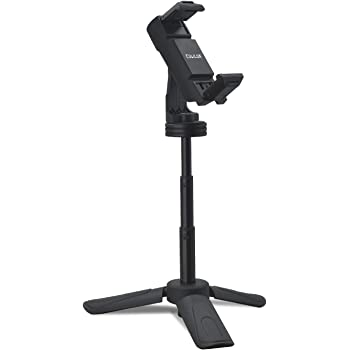 """Cubilux Mini Table Tripod, Pocket Tripod with Phone Clamp, Adjustable Height & 1/4"""" Screw, Compatible with iPhone 12 Pro 11 XR XS SE2 8 7 Plus, Samsung Note 20/10 S20/S20 FE S10 S10, Pixel 5 4 3 XL"""