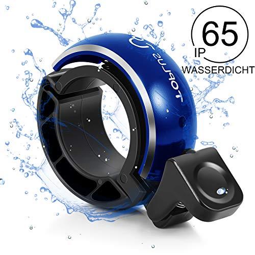 TOPLUS. Fahrradklingel Fahrradglocke Fahrrad Ring für Fahrrad Lenker von 22.2 bis 31.8mm Schwarz lautes und helles Klingeln
