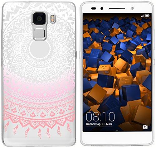 mumbi Hülle kompatibel mit Honor 7/7 Premium Handy Case Handyhülle mit Motiv Mandala rosa, transparent - 2