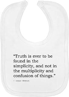 Truth Quote by Isaac Newton Soft Cotton Baby Bib (BI00017226)
