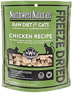 Northwest Naturals Chicken Freeze Dried Nibbles for Cat, 11oz
