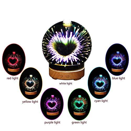 100 ml Aroma Essential Oil Diffuser, 3D Galaxy Aroma kühlen Nebel, Wasserlos Auto Absperr- und 7-Farben-LED für Home Office Yoga SPA (250 ml)
