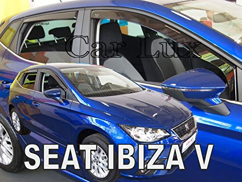 Car Lux AR01550 - Derivabrisas Deflectores de Aire Cortavientos de Ventanillas Delanteros y Traseros para Ibiza 6F Desde 2017-