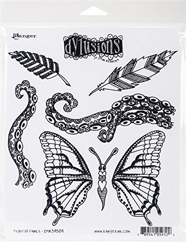 Ranger Flight of Fancy Dyan Reaveley's Dylusions Cling Stamp Collections, 8.5'x7'