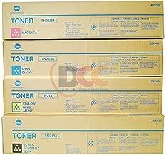 Genuine Konica Minolta TN213 CYMK Toner Cartridge Set for Bizhub C203 C253