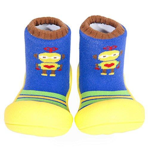 Attipas Chaussures Bébé Premiers Walker Robots Jaune Chaussons Chaussures Enfant Taille 36