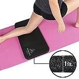Kinesis Yoga 膝パッドクッション - 極厚1インチ (25 mm) 痛みのないヨガに スタンダードなフルサイズのヨガマットにフィット 面ファスナー付で旅行や収納に便利