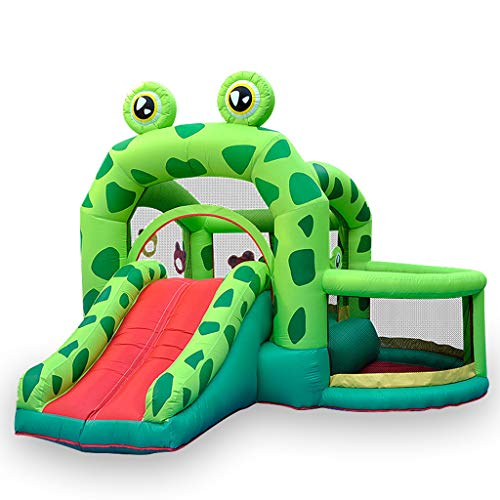 Children's Combo Large Bouncy Castle, Inflatable Trampoline Bounce House Frog Bouncy House Castle With Air Blower Water Slide Toy