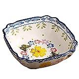 ZCZZ Cuenco de Porcelana para Cereales, Cuenco de Sopa de Color...