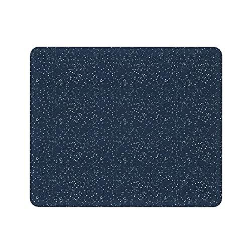 Mini Alfombrilla de Ratón,costellazioni con Stelle Bianche sfondo BLU Navy,tappetini per Mouse lavabili,comodi tappetini per Mouse,tappetino per Mouse da ufficio (11,8 x 9,8 pollici)