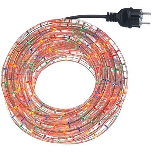 291241 Tubo di luci natalizie 360 lampadine multicolor da esterno 10 mt. MEDIA WAVE store