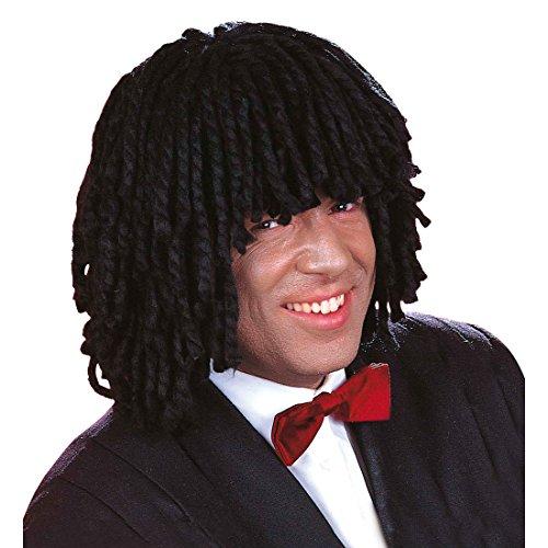 NET TOYS Perruque Rasta Dreadlocks Perruque de Carnaval Noir Perruque Rasta Jamaïque Perruque Rastafari Perruque de déguisement