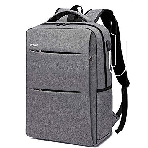 WENHAIラップトップバックパック リュック メンズ 15インチPCバッグ USB 充電ポート イヤホーンポート 搭載ビジネスリュック 耐衝撃 盗難防止 大容量 防水 リュックサック 通勤 通学 男女兼用 ビジネスマン 大学生 高校生