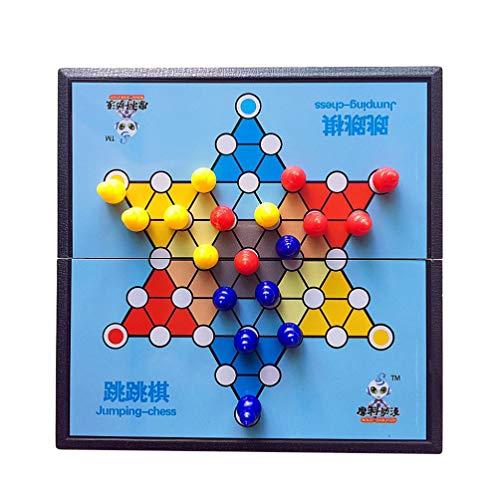 Toyvian 1 Schachtel Springschach-Sprungprüfer Lernspielzeug Eltern-Kind-Interaktionsspielzeug
