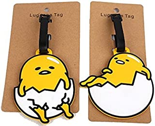 5 2pcs Lazy Eggs Luggage Tags Charms For Travel Collectiable