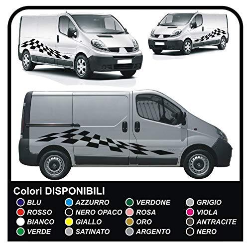 Grafica Adesiva Decalcomanie adesivi per furgoni van e camper (NERO OPACO)
