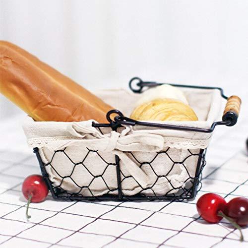 Mini Caja de Almacenamiento Rectangular de Escritorio de Pan de Frutas de Cocina Vintage