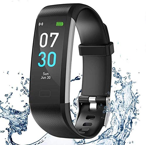 iWalker Smart Pulsera Fitness Tracker, Pulsera Actividad de Frecuencia Cardíaca, Impermeable IP68, Podómetro Deportiva...