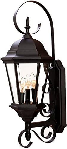 2021 Acclaim 5413BK New high quality Orleans Collection 3-Light Wall Mount Outdoor Light outlet online sale Fixture, Matte Black outlet sale