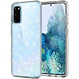 Unov Galaxy S20 Case Clear with Design Soft TPU Shock Absorption Slim Embossed Pattern Protective Back Cover for Samsung Galaxy S20 5G 6.2in (Death Hallows)