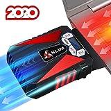 KLIM Cool Universal Raffreddatore per PC Portatile – Ventola ad Alte Prestazioni per Una Veloce Azione di Raffreddamento – Estrattore di Aria Calda USB - Rosso [ Nouva Versione 2020 ]