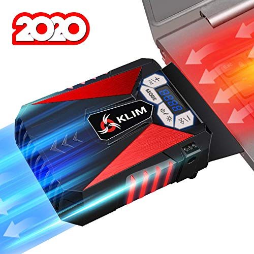 KLIM Cool Universaler Kühler für Spielekonsole Laptop PC – Hochleistungslüfter für Schnelle Kühlung - USB Warmluft-Abzug Rot[ Neue 2020 Version ]