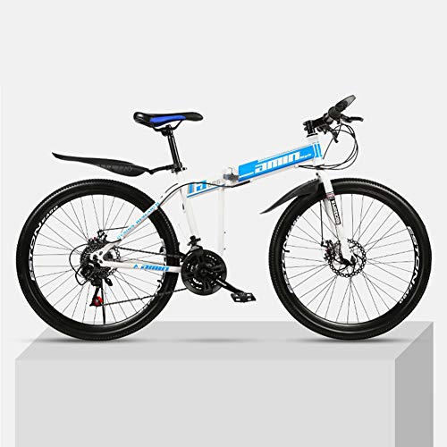 Save %23 Now! CCONE Full Suspension MTB Bikes,24 Inch Folding Mountain Bike 21 24 27 30 Speed Double Disc Bicycle for Adult Teens General4 24 Speed