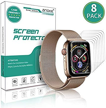 [8 Pack] AnoKe for Apple Watch iWatch 40mm/38mm Screen...