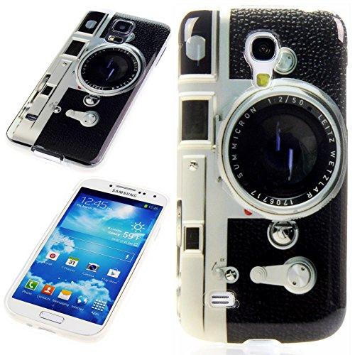 Handy Lux® Schutz Hülle Etui Silikon TPU Hülle Cover Design Motiv für Sony Xperia M5 - Kamera Retro