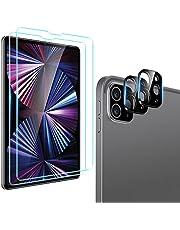 ESR 2 sztuki folii ochronnych na wyświetlacz kompatybilne z iPad Pro 11 2021 (3. generacja) i 2020 (2. generacja), z 2 sztukami folii ochronnych na aparat fotograficzny, ze szkła hartowanego kompatybilny z Face ID