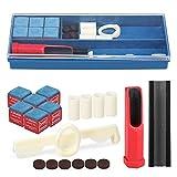 Alomejor Caja de Tiza de Billar Llavero Mini Billar Soporte de Tiza de Billar Retractable to Anti Lost Chalks Carrier