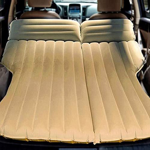 RGA Multifunktionale Auto-Luftmatratze, Camping-Bett, Outdoor-SUV, dediziertes mobiles Kissen, verlängerte Reisematratze, Luftbett, aufblasbar für SUV Rücksitz, passend für 95% SUV mit Pumpe (gelb)