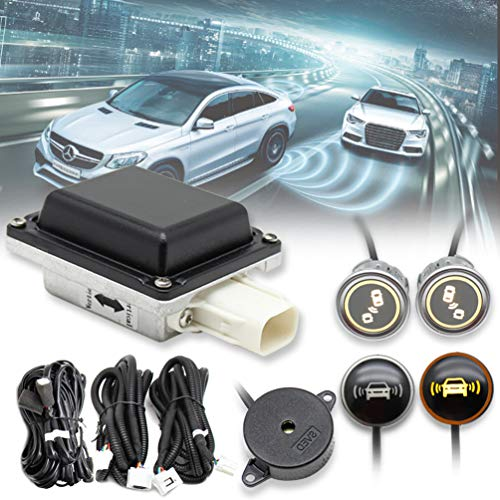 EWAY Universal Car Radar Blind Spot Detectors Sensor System Kit Auto Safety Monitoring Assistant, BSD, LCA, ODW, RCTA fits Mercedes-Benz BMW Ford Jeep Truck RV Toyota Dodge Chevy Honda VW etc.