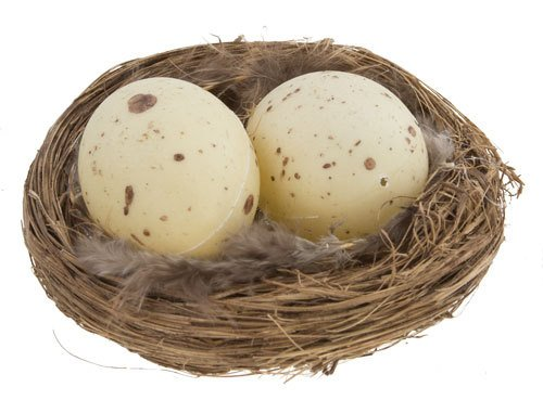 3 Inch Natural Twig Bird Nest With Eggs and Feathers -Great for Wedding Favors, Party Favors, Florals or Baby Showers