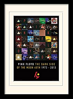 iPosters Pink Floyd Dark Side Of The Moon 40Th Anniversary Framed & Mounted Print - Overall Size: 36 x 46 cm (14 x 18 inches) Mount Size: 30 x 40 cm