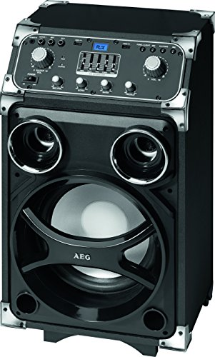 AEG EC 4829 mobiles Entertainment-Center Bluetooth, 2xUSB inkl. Mikrofon, 5-Band-Equalizer, 100 Watt RMS