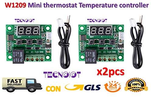2pcs W1209 Digital Cool Heat temp Thermostat Thermometer Temperature Control DC12V