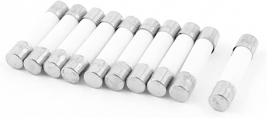 uxcell Fusible Cylinder Cap Ceramic Tube 5 New Shipping Free Shipping 25mm x Links Fuse 250 Latest item