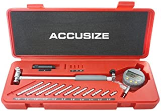Accusize Industrial Tools 2-6 inch by 0.0005'' Digital Bore Gage, Stem Length 6'', Ee20-5274