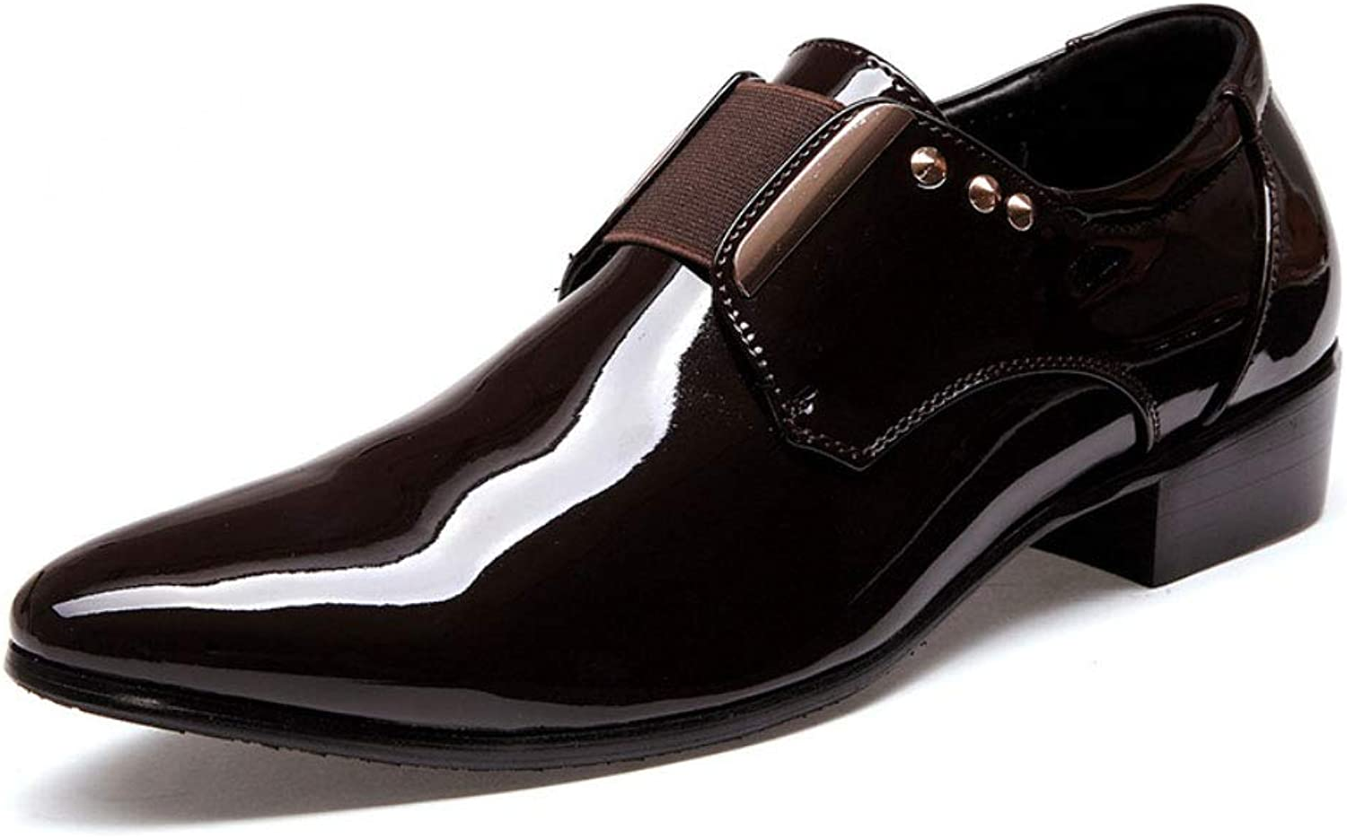 Leather shoes, Glossy Noodles, Pointed shoes, Fashion, Casual Men's shoes