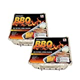 Disposable Grill BBQ 2 Pack: Aluminum Portable Disposable Charcoal Grills, Great for Grilling On The Go, 8.5 X 10.75 inch each