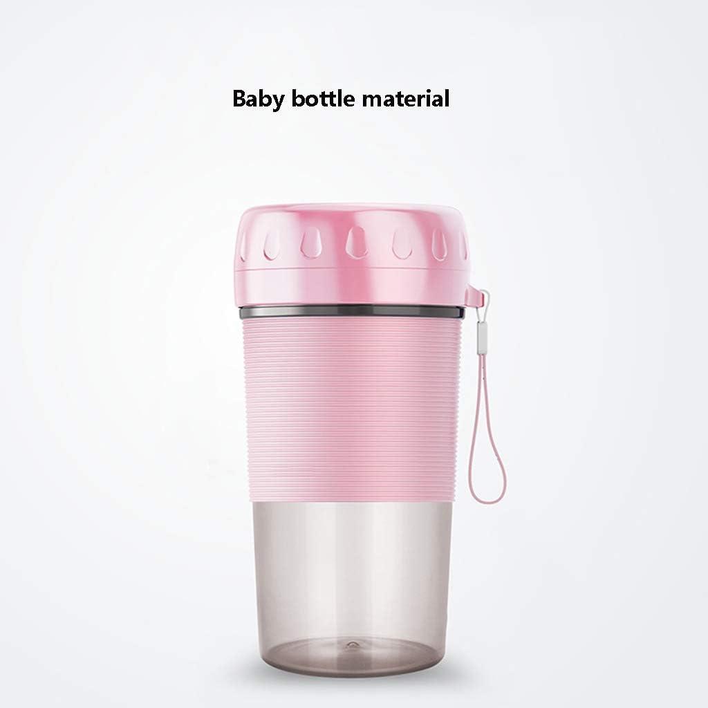 HEWEI Mini Home Juicer Portable USB Rechargeable Juice Cup sans Fil Petit mélangeur sans PBA Multifunction Personal Blender Home Office Travel Rose Pink