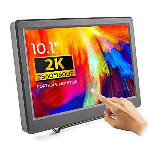 ELECROW 2K Portable Monitor 10.1 Inch Touchscreen Monitor IPS Raspberry Pi Display 2560x1600 Resolution with HDMI DP Port for Raspberry Pi 4/3B Windows PC